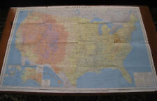 1959 American Geographical Society Map of The United States 25.5/38.5 Worn Tears