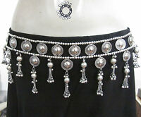 Tribal Kuchi Belly Dance BELT Metal Tassel Coin Medallion Skirt Costume Jewelry