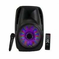 15 in portable bluetooth speaker with tripod standtrexonic combination inch