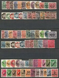 Germany Empire Third Reich 1903-1933 Collections Officials Mint Used Variations