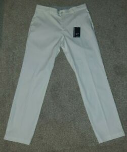 Nike Golf Flat Front Flex Golf Pants White Dri-Fit (833194-100)