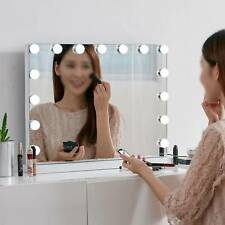 Vanity Mirror with 15 LED Dimmable Lights Hollywood Makeup Touch Control Mirrors