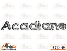 MONOGRAMME NEUF (STICKER) pour coffre / malle de Citroen ACADIANE  -1398-