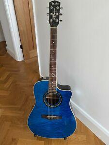 Fender Hot Rod T-Bucket 300CE TBL Translucent Blue Electro Acoustic Guitar