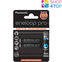 2 PANASONIC ENELOOP PRO RECHARGEABLE AAA HR03 BATTERIES BLISTER 1.2V 930mAh NEW