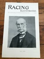 """1896 racing illustrated print """" earl howe & mares and foals of bruntwood stud  """""""