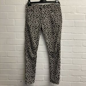 Top Shop  Leigh Black And White Floral Jeans W30 L32