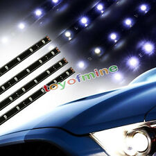4x 30cm 15 SMD LED Car Auto Flexible Grill Light Lamp Strip Waterproof Withe