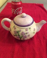 Lavendar Flowers Ceramic Teapot