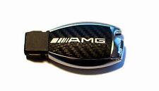 Mercedes W164 ML AMG SL 500 R230 W211 W212 W207 Carbon key sticker silver AMG