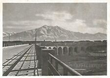 D0459 Cuneo - Panorama dal ponte - Stampa d'epoca - 1940 old print