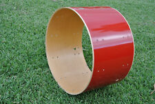 "ADD this 1980's Ludwig 24"" RED FURY BASS DRUM SHELL to YOUR DRUM SET TODAY! B879"