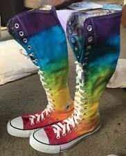 Wow! M3.5W5.5 Hand Dyed Rainbow Converse XX Hi Top(Boots) So Sweet!