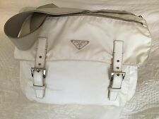 Prada White Nylon Shoulder Handbag