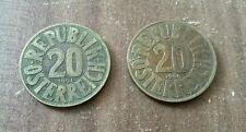 20 Groschen Münzen 1951/54