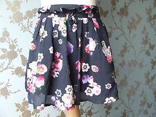 JOTTUM skirt/jupe/robe/Rock dark navy flowers sz 128 / 8 yrs almost AGAN summer