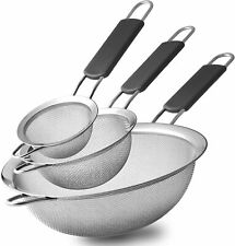 Stainless Steel Fine Mesh Strainers, Set of 3 Sizes Strainer