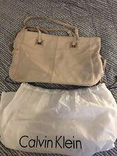 Calvin Klein crema in pelle borsetta di medie dimensioni ORO PASSAMANERIA vincere Copertina