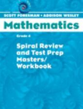 SCOTT FORESMAN MATH 2004 SPIRAL REVIEW AND TEST PREP MASTERS GRADE 4-ExLibrary