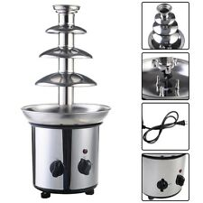 Chocolate Fondue Fountain 4 Tiers Commercial Stainless Steel Hot Luxury NEW