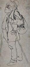 2xTuschfederzeichnung Illustration Handzeichnung Karikatur Simplicissimus-Art~10