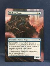 Blighted Agent MTG Magic New Phyrexia Hand Painted Altered Full Extended Art