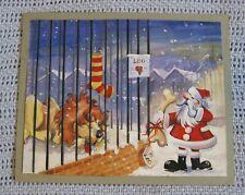 Vintage Christmas Card Or 00006000 iginal Art Work Proof Leo the Lion & Santa by Goodburn