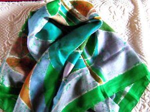 foulard soie, vert.