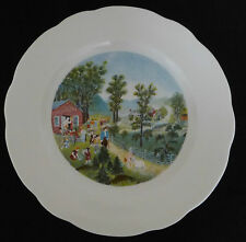 SYRACUSE Grandma Moses Large Plate - Mary and Little Lamb