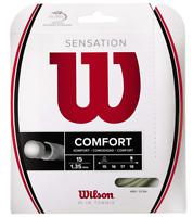 WILSON SENSATION COMFORT TENNIS STRING 1.35MM 15G ONE 12M SET NATURAL - RRP £20