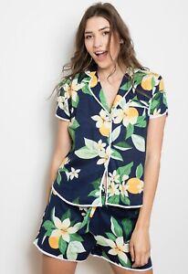 NEW Ladies 100% Cotton Grand Daisy Shortie Cottonreal Pyjamas/Loungewear