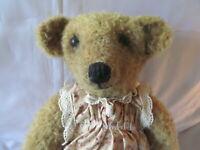 OOAK Artist Teddy Bear, Raspbeary, from Lim Bears, Beige Mohair, Seventeen Inche