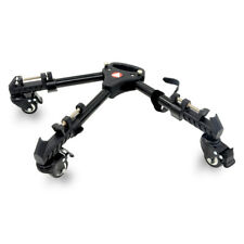 VX-600 Foldable Wheels Pulley Tripod Base Stand Leg Mounts For Video Camera NEW