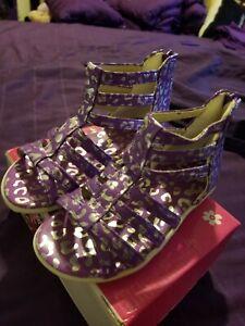 OSHKOSH TODDLER GIRL Sandals Purple New Size 11