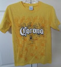 Corona Extra Beer Cerveza Yellow Size Small T-Shirt Licensed
