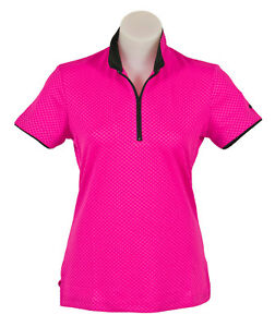 Womens Short Sleeve Pink Candy Sports Golf Polo