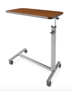 Hospital Overbed Table With Wheels Height Adjustable - New - AU Stock