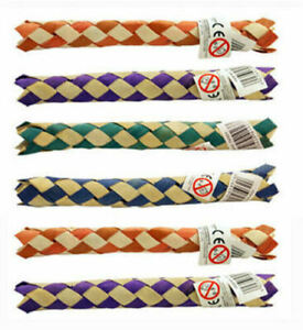 6 Chinese Bamboo Finger Traps - Kids Joke Gag Party Bag Filler Colour Fun Toy