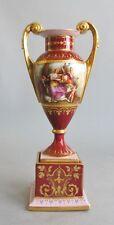 19th C. German Royal Vienna Hand-Painted Porcelain Vase  Finest Quality antique