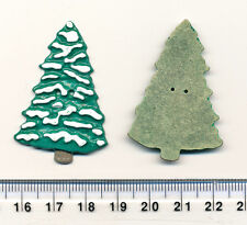 CHRISTMAS TREE BUTTON - metal - 45mm -  2 holes - XMAS - Scrapbooking / sewing