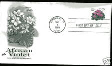 2486 African Violet booklet single ArtCraft FDC