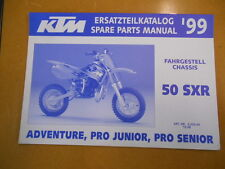 1999 KTM 50SXR Factory Spare Parts Manual Chassis