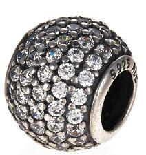 Genuine PANDORA Silver Pave Clear CZ Charm 791051CZ **FREE DELIVERY**