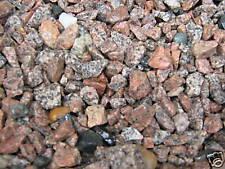 20kg (0,995 €/kg) Ziersplitt Granit rosa - rot gebrochen ca.8-16mm Ziersteine