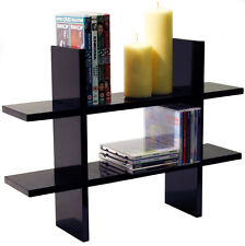 GEO - Wall Mounted Storage / Floating Display Shelf - Black STGEOB