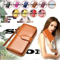 Fashionable Long Type Men Leather ID Credit Card Holder Clutch Purse Wallet  GA