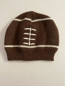 SoDorable Football Knit Beanie Stocking Cap Hat Infant Toddler 0-6 Months EUC