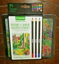 Crayola Signature 24pc. Blend & Shade Colored Pencils with Decorative Tin!