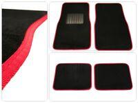 Universale Auto Fußmatten Fußmatte Schwarz rote Naht Automatte 4tlg Autoteppich