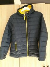 Ladies Result Urban Navy And Yellow Quilted Jacket Size Medium (Uk12)
